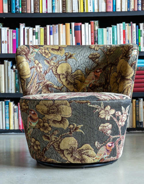 Fancy armchair fabric lawn