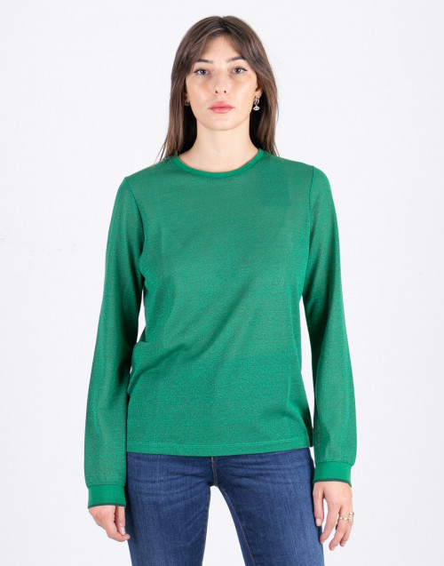 Green lurex sweater