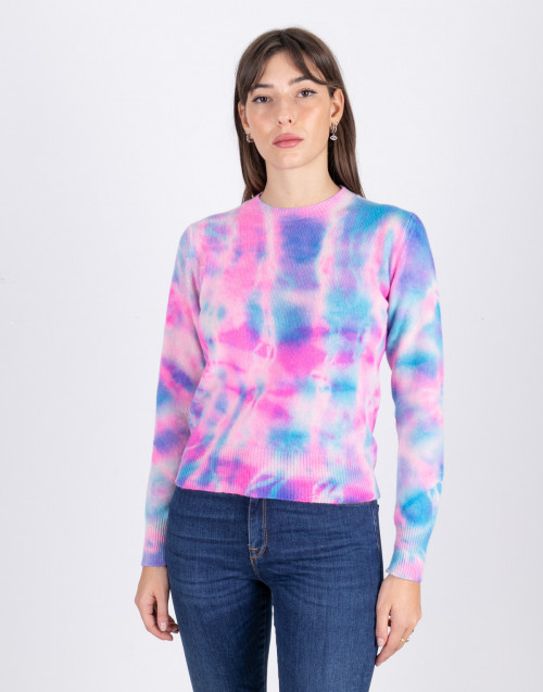 Sweater tye and dye pink