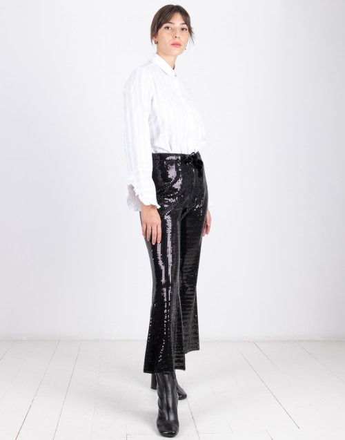 Pants with black sequins