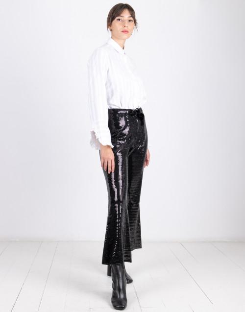 Pantalone nero in pailettes