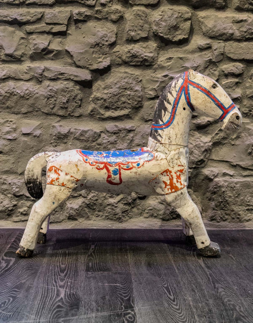 White vintage horse