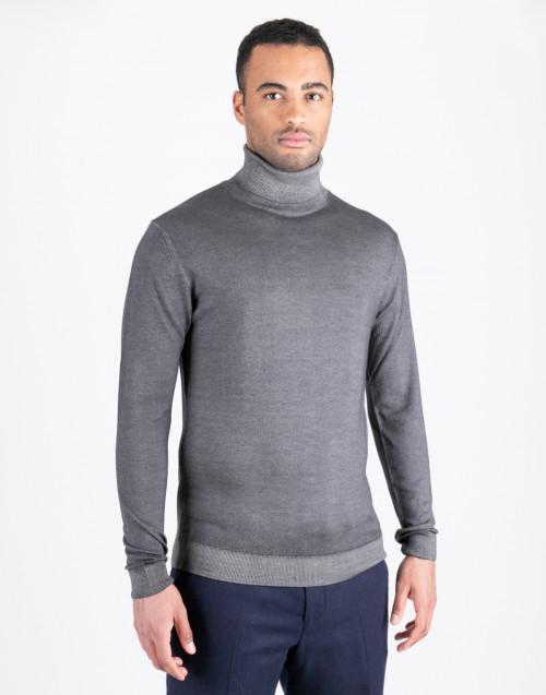 Gray wool turtleneck