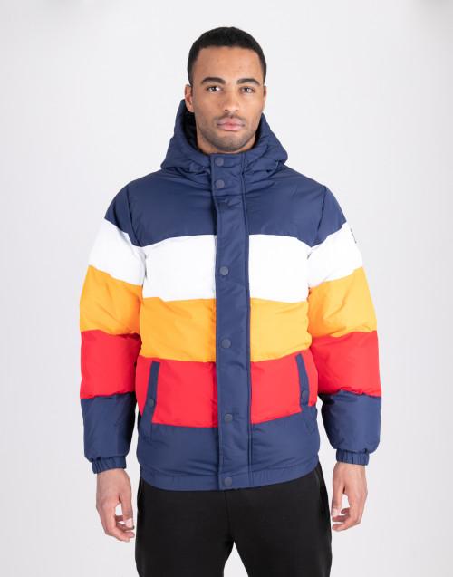 Bloked puffa jacket