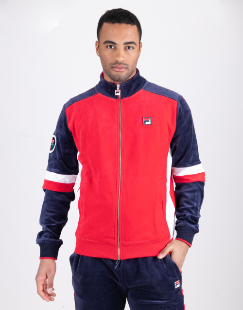 Chenille Fila red blue sweatshirt