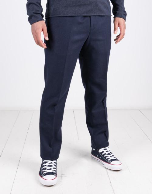 Pantalone blu in lana