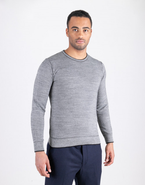 Gray crewneck sweater