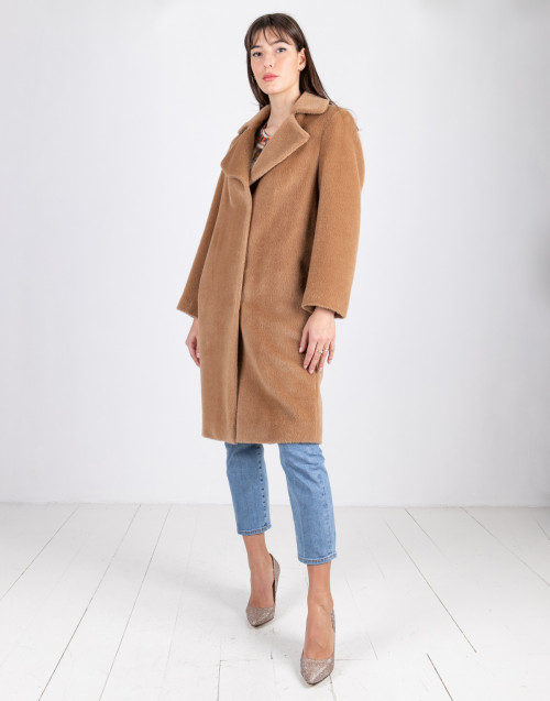 Camel over wool coat