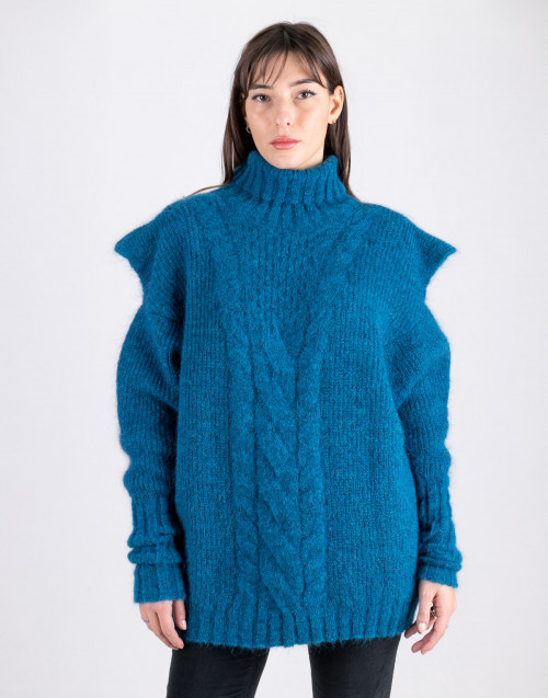 Petrol turtleneck sweater