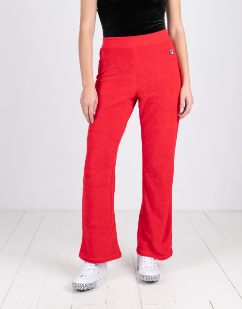 Wide chenille trousers
