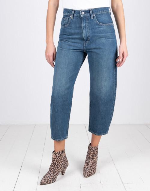 Blue wide waist jeans