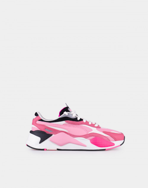 White and pink RS-X3 Puzzle sneakers