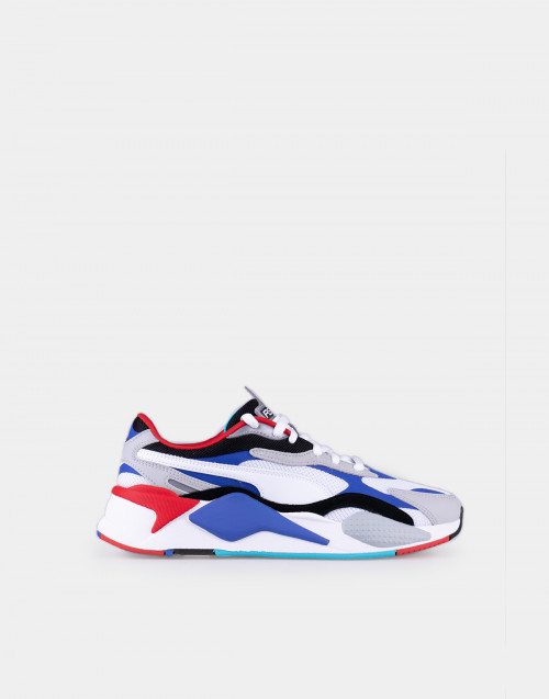 Red, blue and white RS-X3 Puzzle sneakers