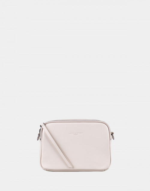 Cream leather shoulder bag