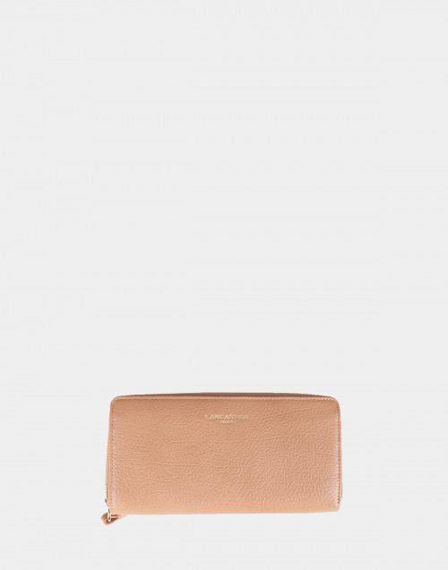 Sand color Dune grained leather wallet