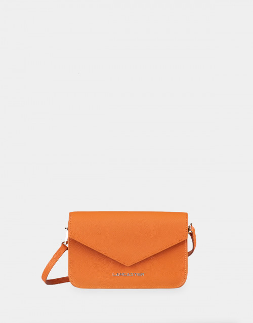 Saffiano Signature orange mini clutch