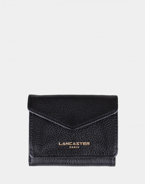 Black Dune leather mini wallet