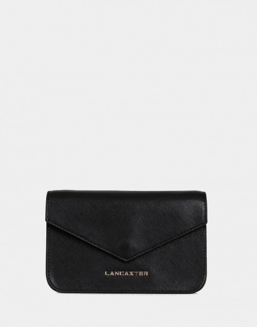 Saffiano Signature black mini clutch