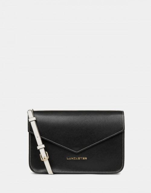 Black Saffiano Signature shoulder bag