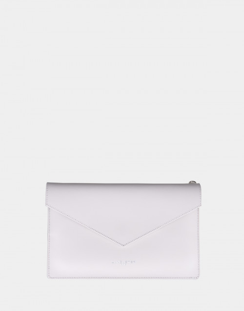 Cream color Pur & Element Smooth clutch bag