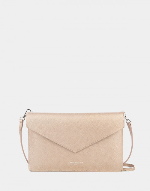 Champagne Saffiano Element clutch bag