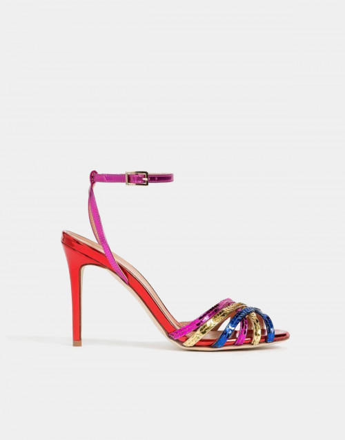 Multicolor laminated sandals