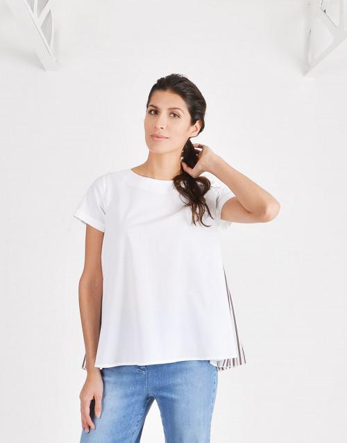 T-shirt plisse dietro monica bjb