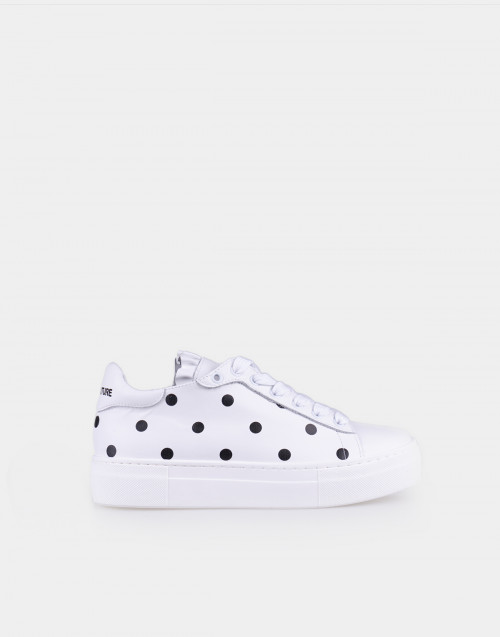 Sneakers in pelle a pois
