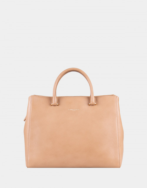 Sand leather bag
