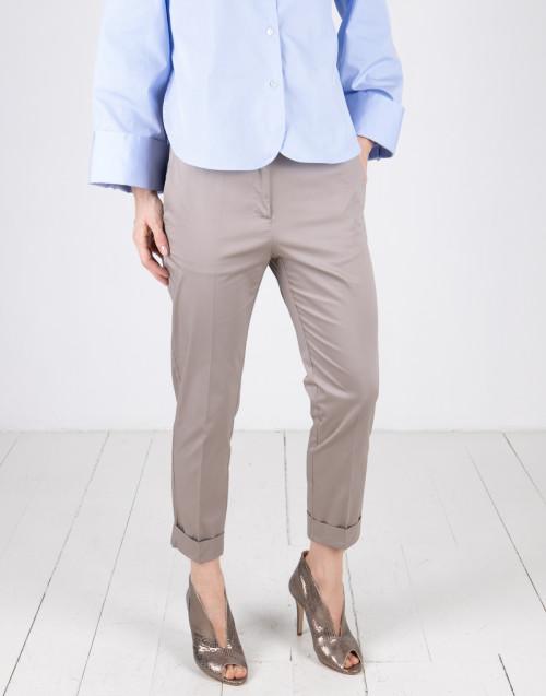Pantalone cotone sabbia