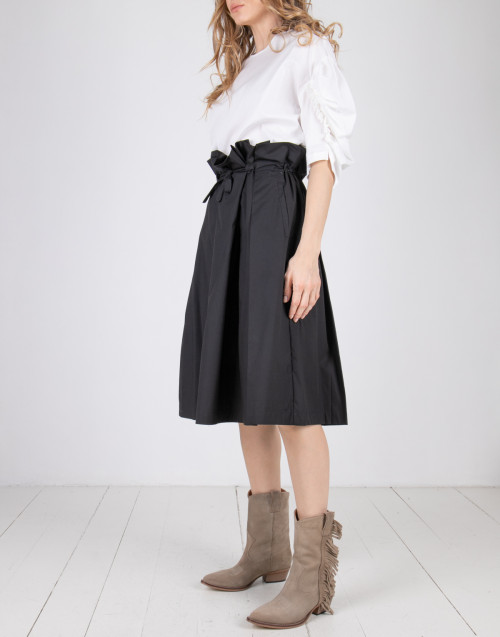 Black drawstring skirt