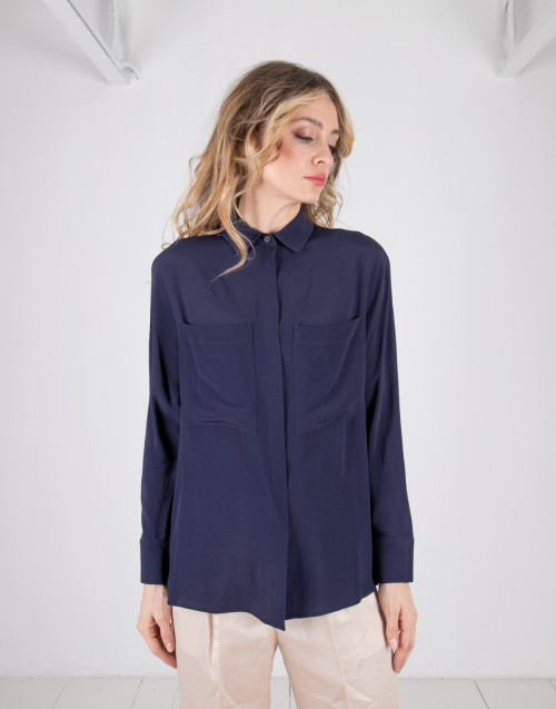 Camicia over tasconi navy