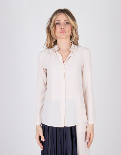 Semicouture ivory acetate silk shirt