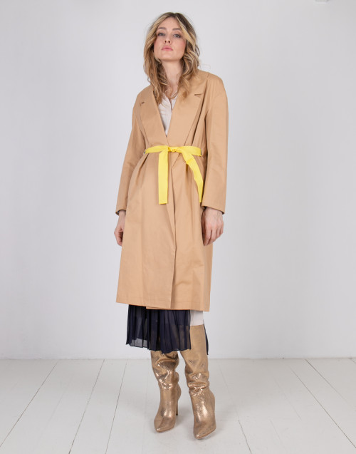 Semicouture beige single-breasted trench coat