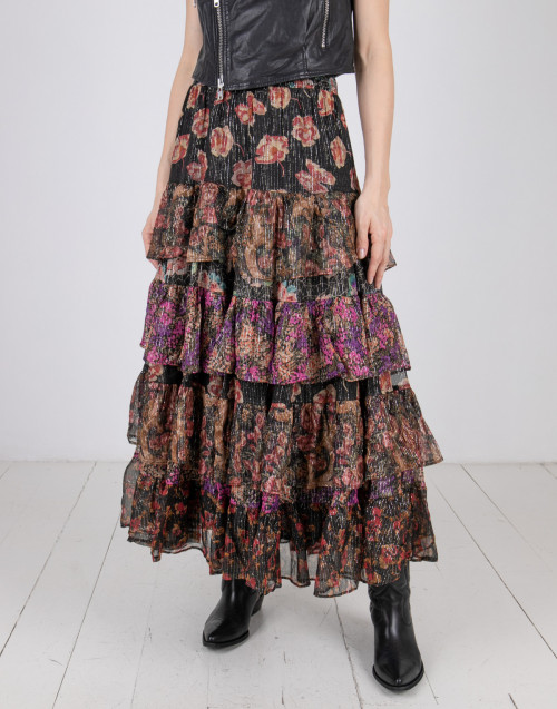 Lurex skirt flowers