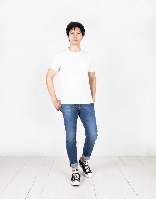 T-shirt jersey logo bianca