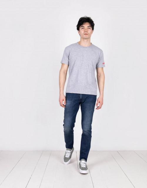 Gray logo jersey T-shirt