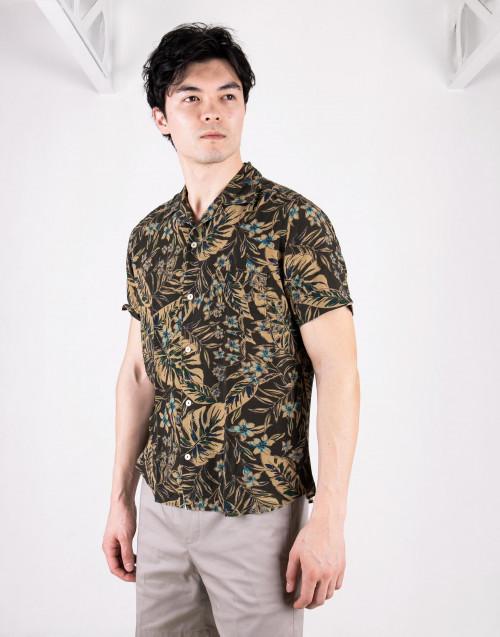 Camicia Hawaii oliva