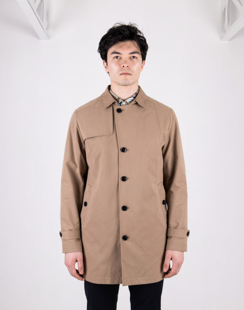 Bleige cotton trench coat