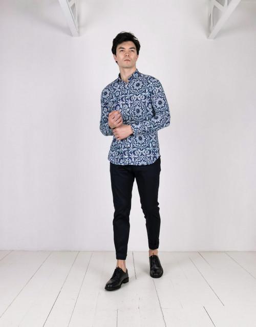 Camicia fantasia in cotone