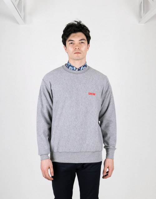 Gray crewneck sweatshirt
