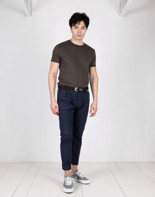 Blue pence chino trousers