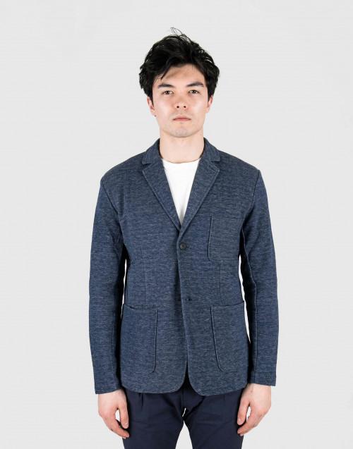 Melange blue blazer