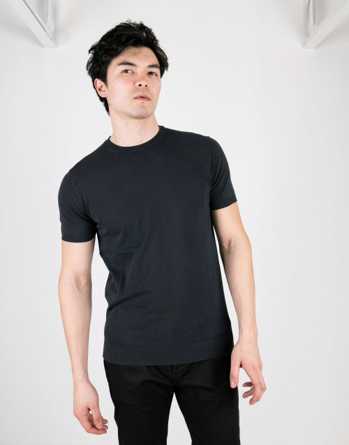 Round neck petrol t-shirt