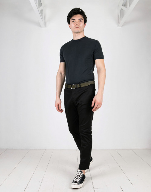 Black pence chino trousers