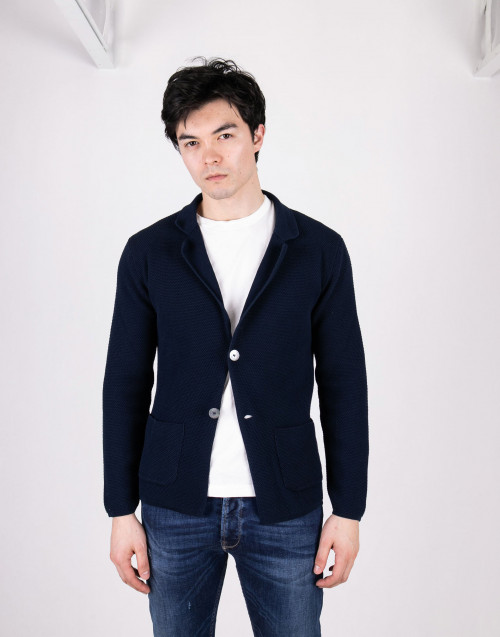 Blue cardigan with buttons