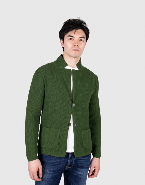 Green cardigan with buttons