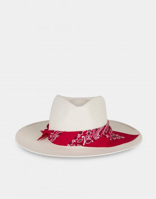 Cappello panna con bandana