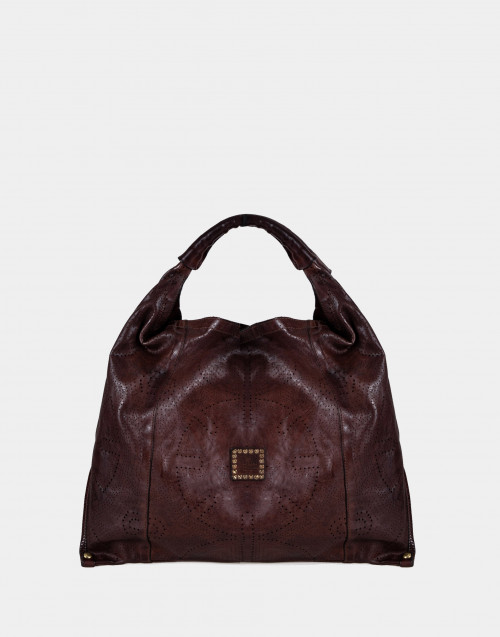 Brown one-shoulder bag