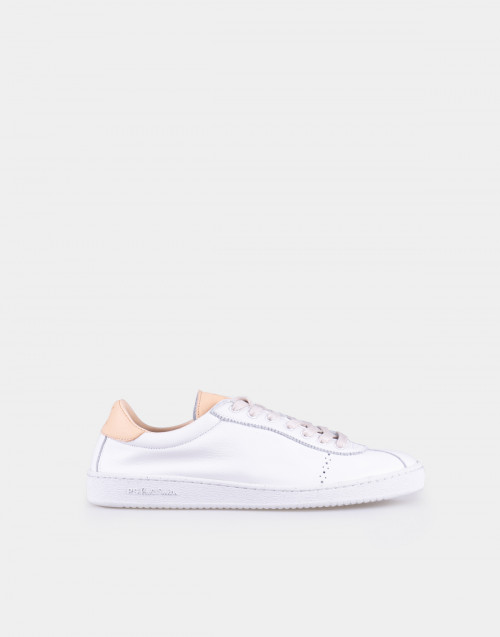 White leather sneakers Dusty